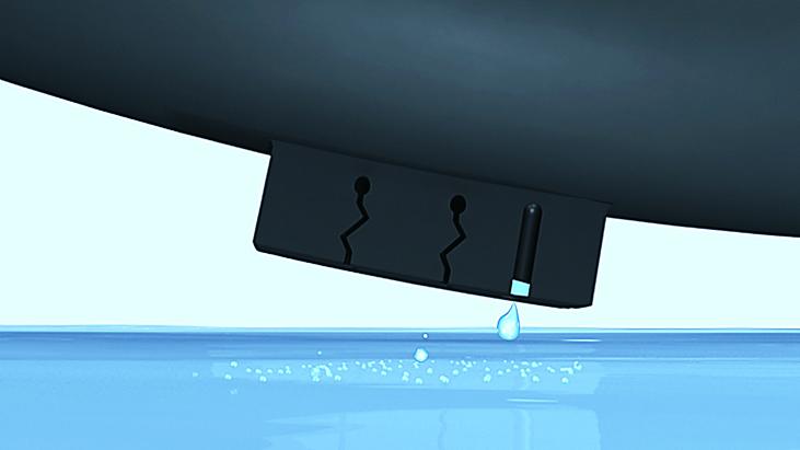 X-ICE XI3 ZigZagマイクロエッジ 水を排出
