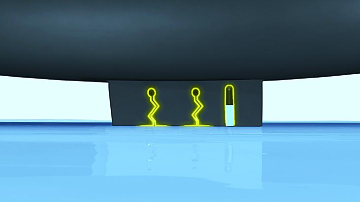 X-ICE XI3 ZigZagマイクロエッジ 水を吸収