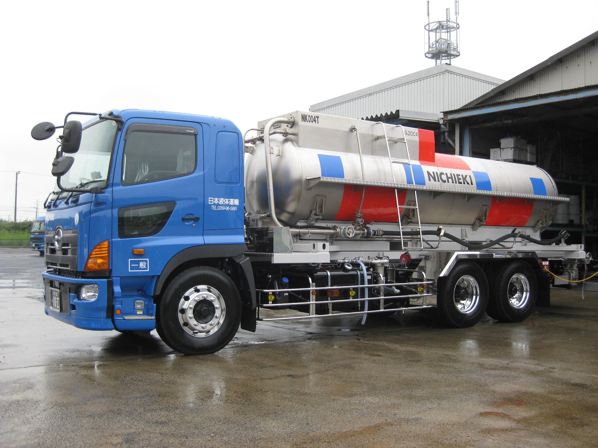 X One装着 日本液体運輸タンクローリー_1