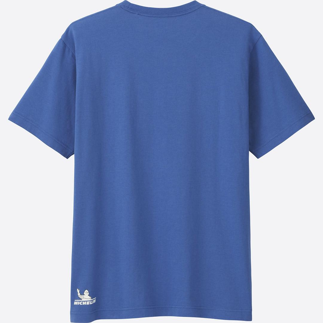 Tシャツ青 後